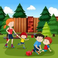 Barnskada från rullskridskoåkning