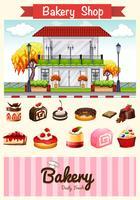 Bäckerei und Desserts vektor