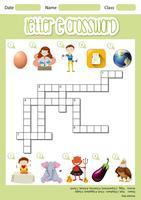 Letter E Crossword vektor