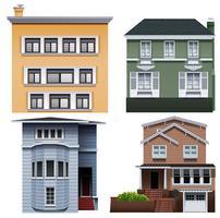 Vier Gebäude vektor