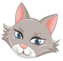 Ein Gesicht der niedlichen Katze vektor