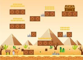 Eine Spielvorlage Wüstenszene vektor