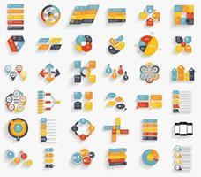 Sammlung von Infografik-Vorlagen für Geschäftsvektorillustrationen vektor