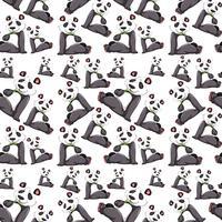 Panda auf nahtloses Muster vektor