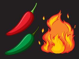 Hot Spicy Chili och Fire