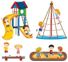 Spielplatz-Szenen