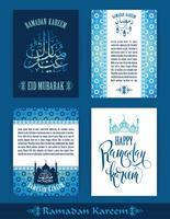 Ramadan Kareem. Satz von Ramadan-Designvorlagen.