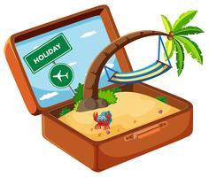 Sommerelement im Koffer