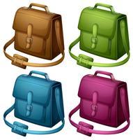Fyra färgglada väskor