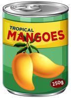 Kann von tropischen Mangos vektor
