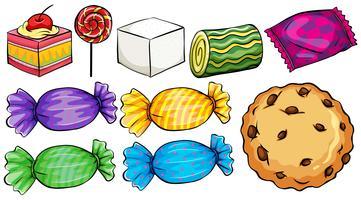 Set von Süßigkeiten vektor