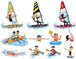Sats med vattensporter vektor
