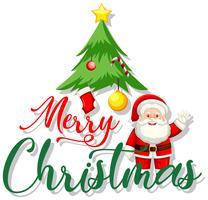 Ein Symbol der frohen Weihnachten vektor