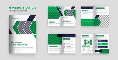 Vorlagendesign für Unternehmensprofilbroschüre vektor