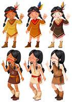 Native American Indian Mädchen winken