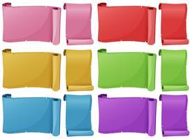 Pappersmall i sex färger vektor