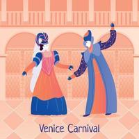 venedig karneval flache illustrationsvektorillustration vektor