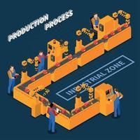 produktionsprozess industrielle zusammensetzung vektorillustration vektor