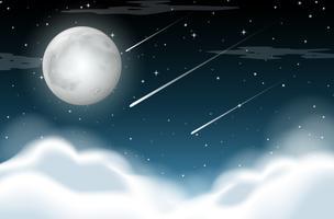 Nachtzeit Hintergrundszene vektor