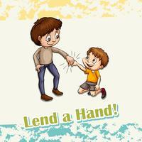 Idiom låna en hand