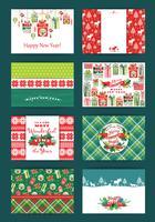 Jul och nyårssats. vektor