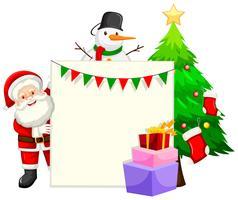 Weihnachten themenorientierte Papierframae vektor