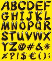 Stora bokstäver i alfabetet vektor