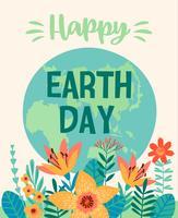 Jordens dag. Vektor mall för kort, affisch, banner, flygblad
