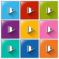 Icons spielen vektor