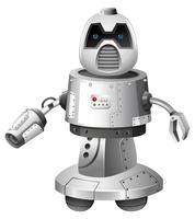 Ein moderner Roboter auf weißem Hintergrund vektor