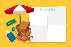 Reisegegenstand im Banner vektor