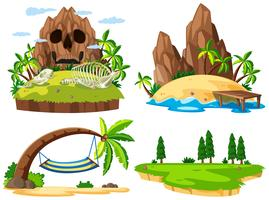 Set verschiedene Insel vektor