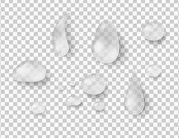 Verschiedene Formen von Regentropfen