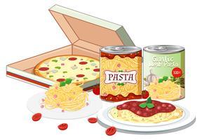 Snabb lätt italiensk måltid vektor