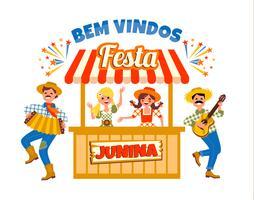 Latinamerikansk helgdag, junipartiet i Brasilien. Vektor illustration