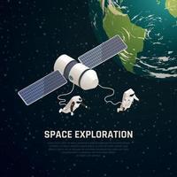 Weltraumforschung Hintergrund-Vektor-Illustration vektor
