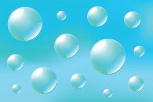 Wasserballons, Unterwasser, Seifenblasen vektor