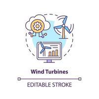 Konzeptsymbol für Windkraftanlagen vektor