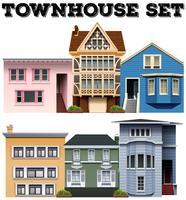 Unterschiedliches Design der Stadthäuser