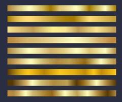 Gold Hintergrund Textur Vektor Set Symbol nahtlose Muster