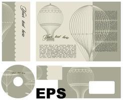 CD-Cover-Vorlagen-Design vektor