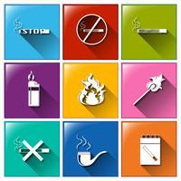 Ikoner för att inte röka vektor