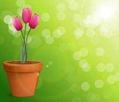 Blumenhintergrund mit Tulpenvektorillustration vektor