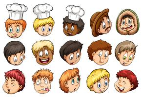 En grupp ansikten vektor