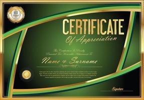 Design der Zertifikatvorlage vektor