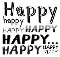 Schrift glücklich vektor