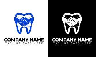 Zahnarzt-Logo. Zahnklinik kreatives Firmenvektorlogo. vektor