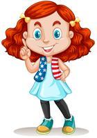 Liten flicka med rött hår