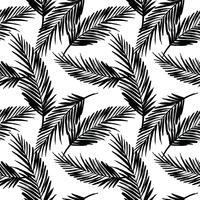 Seamless exotiskt mönster med palmblad.