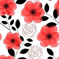 floral nahtlose Muster Hintergrund Vektor-Illustration vektor